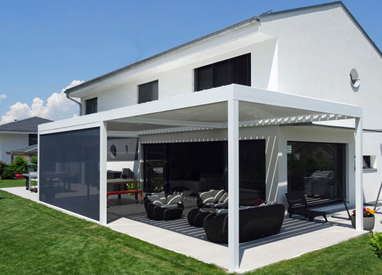 pergola alu 5x4 tonnelle adoss e aluminium 3 5x4 m toit. Black Bedroom Furniture Sets. Home Design Ideas